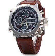 Мужские водонепроницаемые часы AMST 3003 коричневые