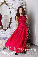 Женское праздничное платье в пол Шёлк