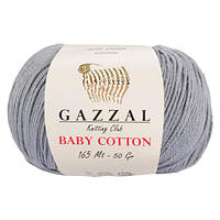 Пряжа GAZZAL Baby Cotton (Хлопок 60%; Акрил 40%; Вес 50гр; Длина 165м)
