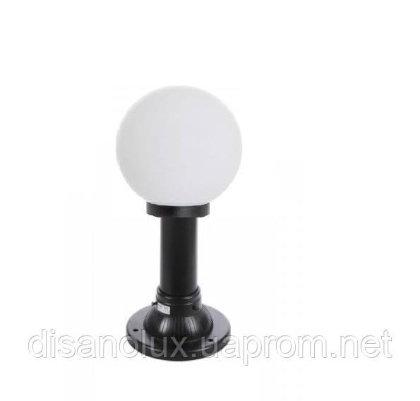 """Светильник парковый уличный """"Столб"""" 0.25м с базой для столба и шар φ150мм белый  IP44"""