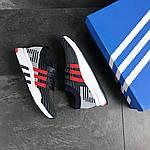 Мужские кроссовки Adidas Equipment adv 91-18 (темно-синие с серым и красным), фото 5