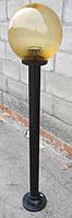 """Светильник парковый  """"Столб"""" NF1м с  основанием  для столба и шар NF1807 φ250мм золото призматик  IP44, фото 2"""