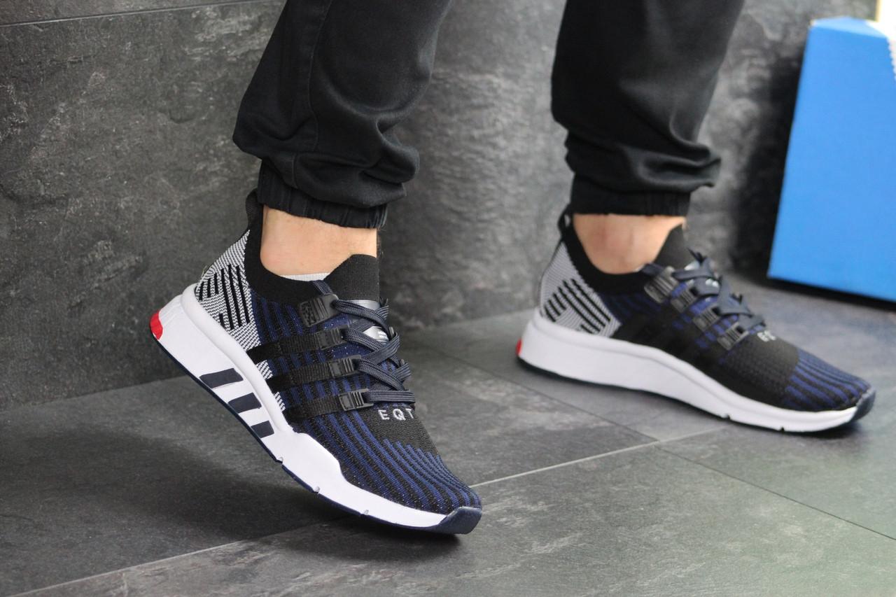 Мужские кроссовки Adidas Equipment adv 91-18 (темно-синие с серым)