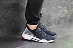 Мужские кроссовки Adidas Equipment adv 91-18 (темно-синие с серым), фото 3