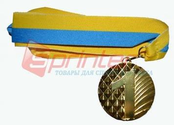 Медаль наградная с лентой, d - 5 см.(ромб).1 место 5200-10