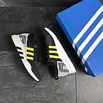 Мужские кроссовки Adidas Equipment adv 91-18 (черно-серые с желтым), фото 3