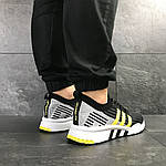 Мужские кроссовки Adidas Equipment adv 91-18 (черно-серые с желтым), фото 2