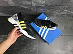 Мужские кроссовки Adidas Equipment adv 91-18 (черно-серые с желтым), фото 4