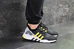 Мужские кроссовки Adidas Equipment adv 91-18 (черно-серые с желтым), фото 5