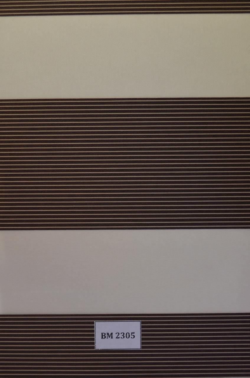 Рулонные шторы день-ночь темно-коричневые ВМ-2305