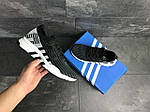 Мужские кроссовки Adidas Equipment adv 91-18 (черно-серые с белым), фото 3