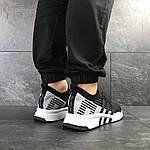 Мужские кроссовки Adidas Equipment adv 91-18 (черно-серые с белым), фото 4