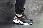 Мужские кроссовки Adidas Equipment adv 91-18 (черно-серые с белым), фото 6