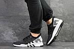 Мужские кроссовки Adidas Equipment adv 91-18 (черно-серые с белым), фото 5