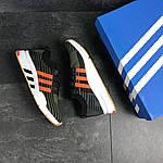 Мужские кроссовки Adidas Equipment adv 91-18 (темно-зеленые с оранжевым), фото 2