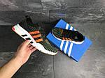 Мужские кроссовки Adidas Equipment adv 91-18 (темно-зеленые с оранжевым), фото 3