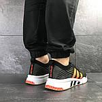 Мужские кроссовки Adidas Equipment adv 91-18 (темно-зеленые с оранжевым), фото 4