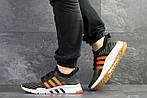 Мужские кроссовки Adidas Equipment adv 91-18 (темно-зеленые с оранжевым), фото 5