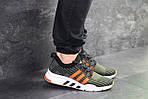 Мужские кроссовки Adidas Equipment adv 91-18 (темно-зеленые с оранжевым), фото 6