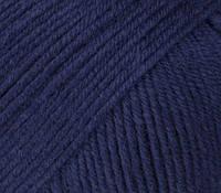 Пряжа GAZZAL Baby Cotton (Хлопок 60%; Акрил 40%; Вес 50гр; Длина 165м) Тёмно-синий