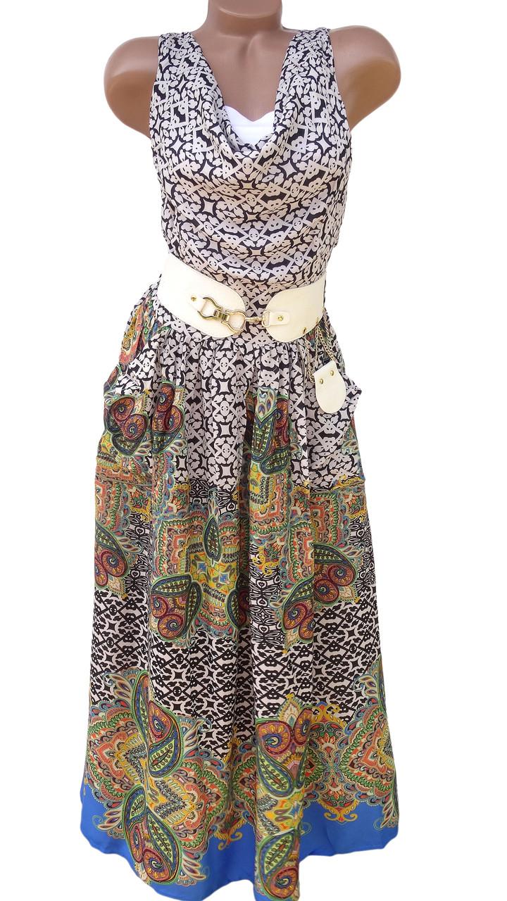 Изысканное летнее платье 42-44