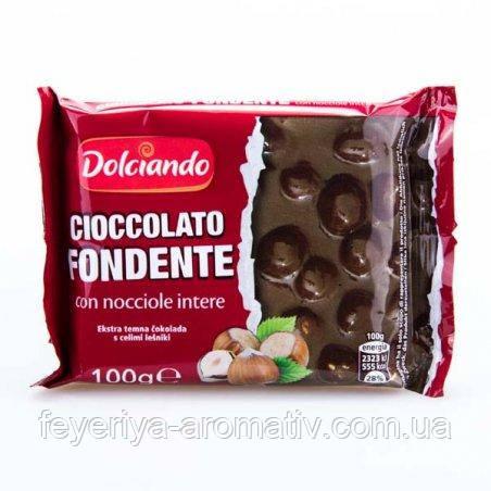 Черный шоколад с лесными орехами Dolciando 100г (Италия)