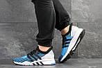 Мужские кроссовки Adidas Equipment adv 91-18 (голубые со светло-серым), фото 2