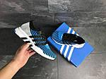 Мужские кроссовки Adidas Equipment adv 91-18 (голубые со светло-серым), фото 5