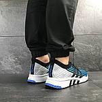 Мужские кроссовки Adidas Equipment adv 91-18 (голубые со светло-серым), фото 4