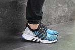 Мужские кроссовки Adidas Equipment adv 91-18 (голубые со светло-серым), фото 6