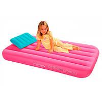 Надувной матрас с подушкой для детей Intex 88х157х18 см (66801) розовый