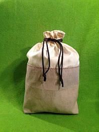 Мешочек для хлеба (лён + суровая х/б бязь)
