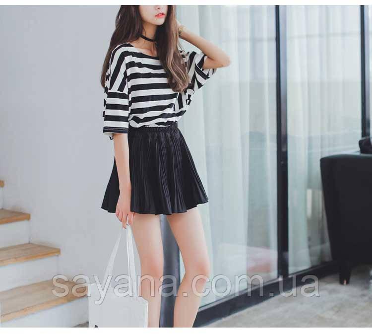 Женская плиссированная юбка в расцветках. СК-9-0519