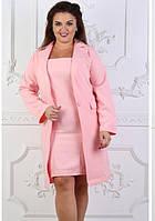 Платье+ пиджак вечернее ( выпускное ) до колена футляр приталенное Цвет : Пудра Размер : 42 44 46 48 50 52 Материал : Креп костюмка k-45365