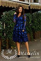 Женское вечерние платье шитье микро-паетка