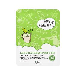 Тканевая маска для лица с экстрактом зеленого чая ESFOLIO Pure Skin Green Tea Essence Mask Sheet