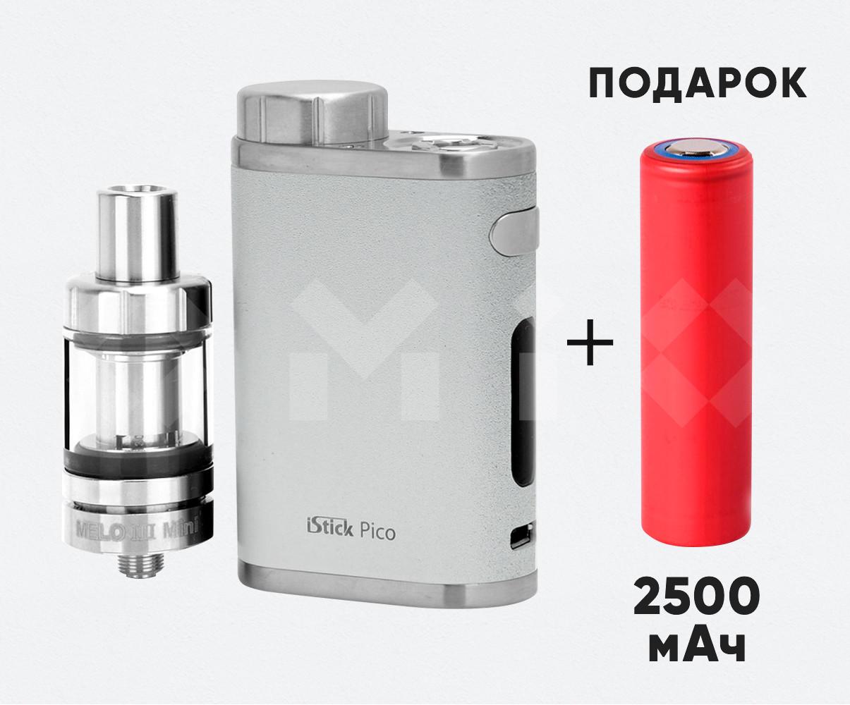 Eleaf iStick Pico 75 w ( Вейп АйСтик Пико 75 Вт ) электронная сигарета серебристого цвета (реплика)