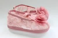 Летние пинетки для малышек (Турция) розовые 4-8мес.