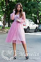 Женское платье короткое воздушное с Фатином L