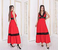 Женское длинное льняное летнее платье.Размеры:42-46.+Цвета, фото 1