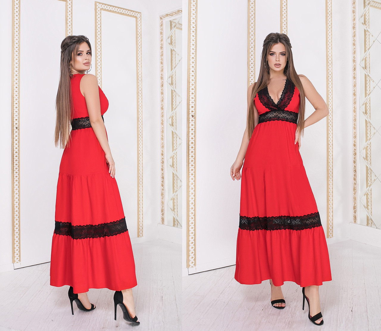 Женское длинное льняное летнее платье.Размеры:42-46.+Цвета
