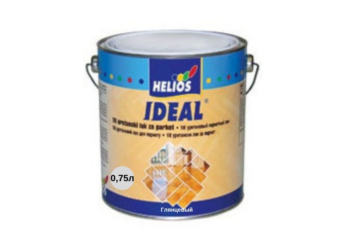 Алкидный лак для паркета Helios Ideal (Глянцевый) 0.75л