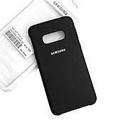 Силиконовый чехол на Samsung S10 Lite Soft-touch Black
