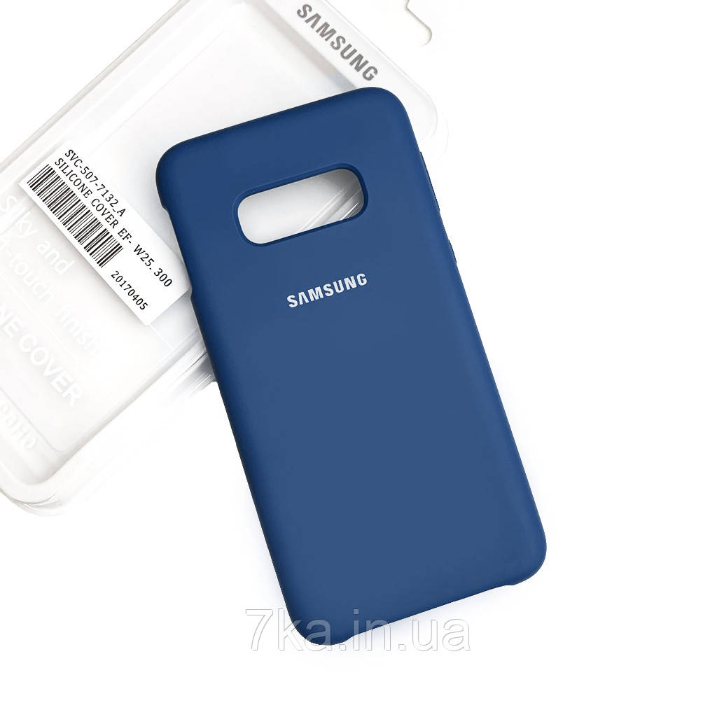 Силиконовый чехол на Samsung S10 Lite Soft-touch Denim