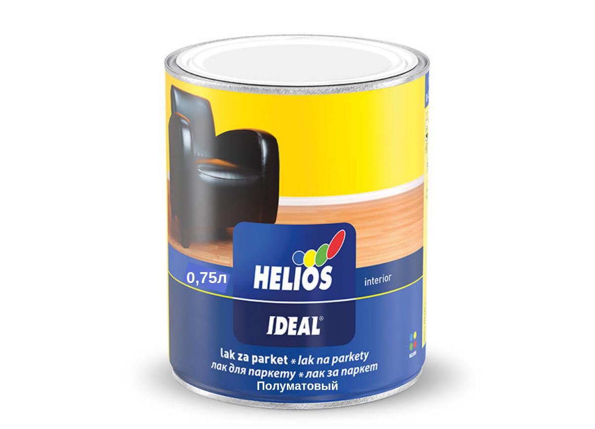 Акриловый паркетный лак Helios (Полуматовый) 0.75л