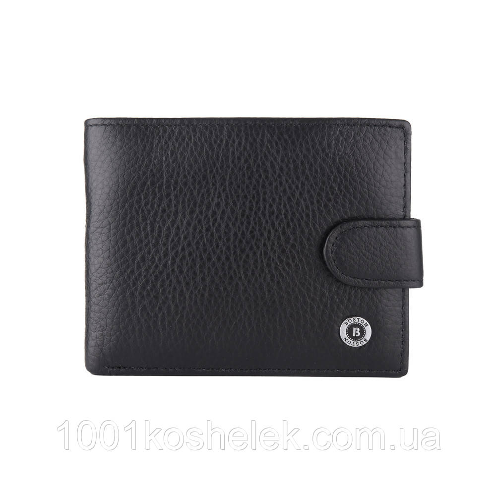 Мужской кожаный кошелек Boston B4-026 Black