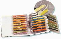 Пластиковый файл для хранения мулине ДМС