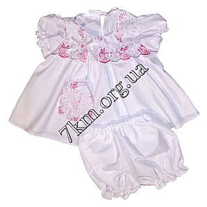 Платье с Трусиками батист 6-12 месяцев Оптом 220501