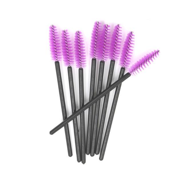 щеточки фиолетовые для ресниц