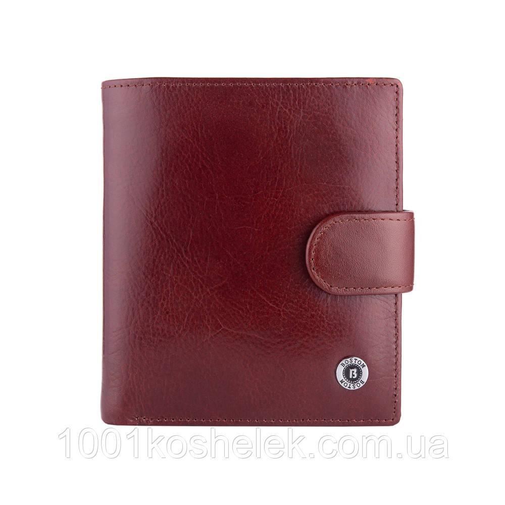 Мужской кожаный кошелек Boston B5-028 Coffee Глянец